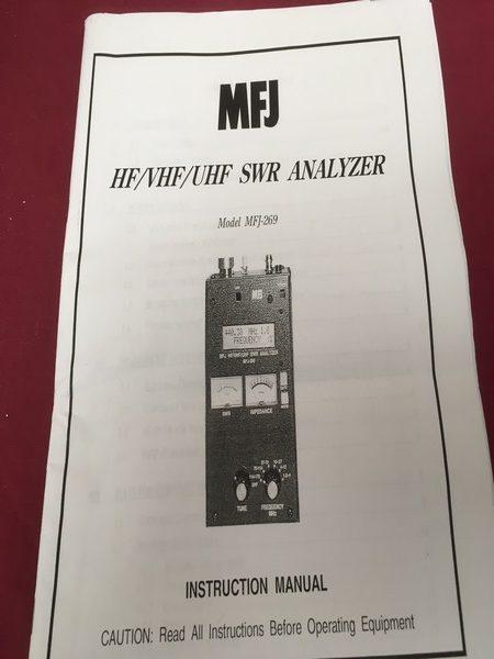 MFJ-269 Antenna Analyser - RCQ Communications Limited